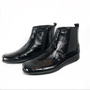 Aerosoles 'Port Wine' Blk. Patent Leather Boots 8M